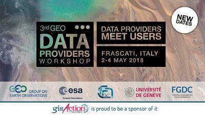 3rd GEO Data Providers Workshop 2018