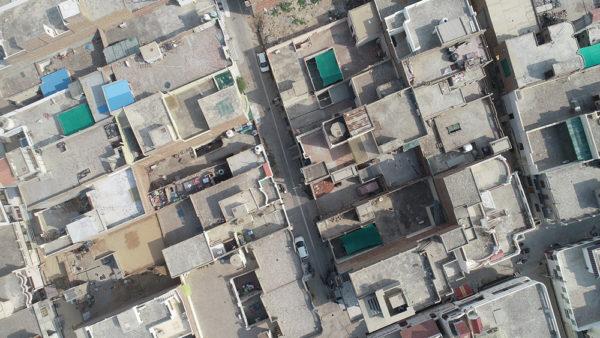 vista aerea di una città