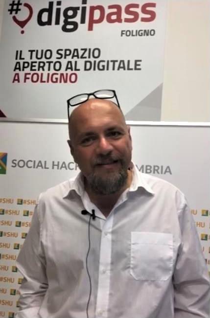 Antonio Natale intervistato al social hackathon umbria